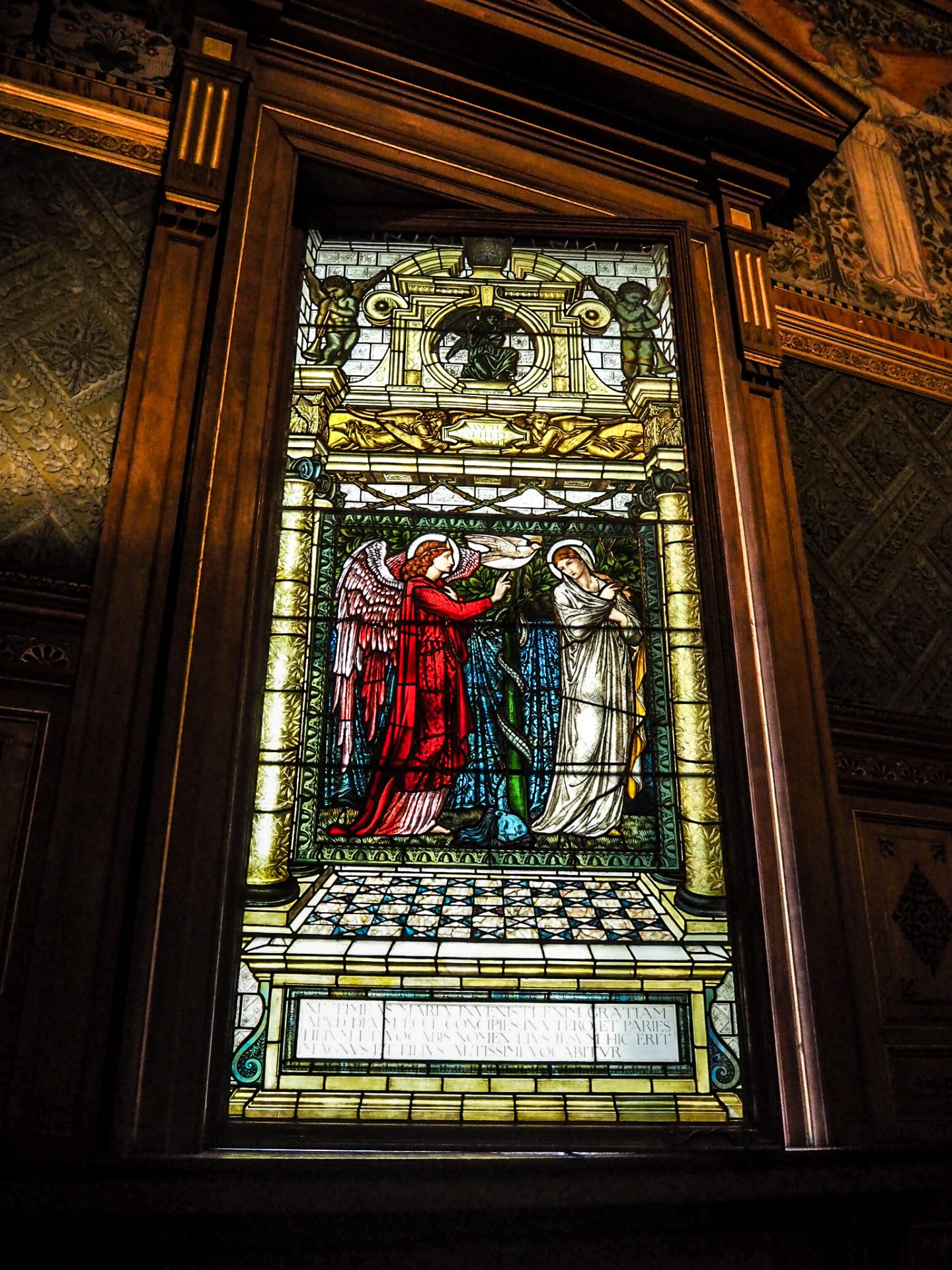christmas at castle howard chapel stained glass