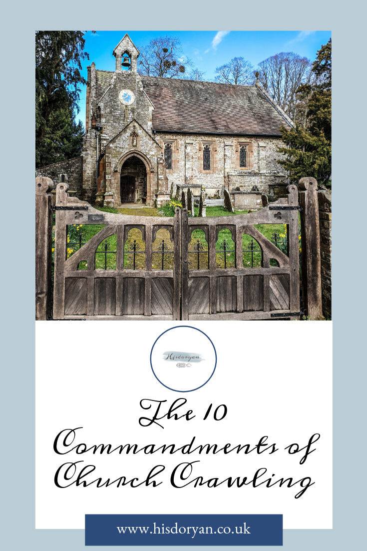 The 10 Commandments of Church Crawling