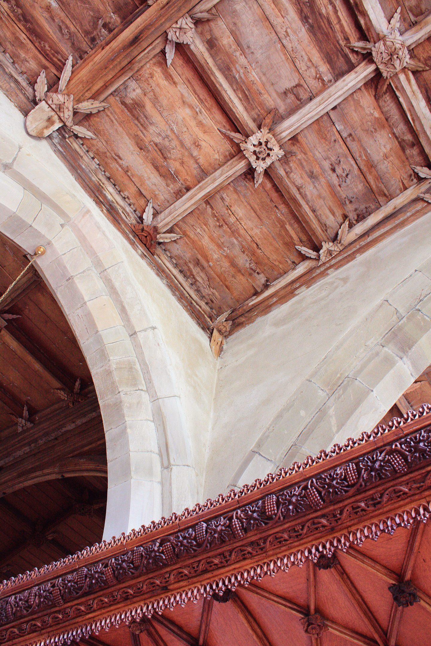 St Stephens Church Old Radnor roof