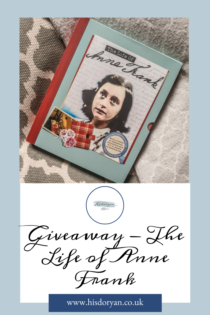 The Life of Anne Frank Pinterest Cover