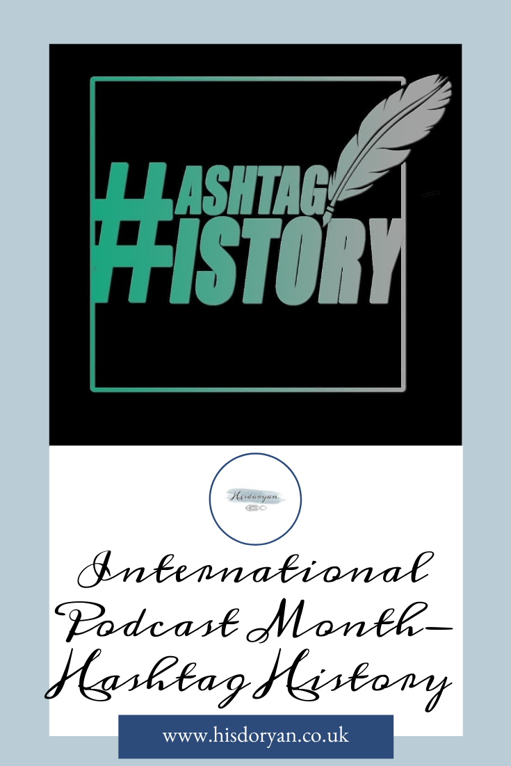 Hashtag History Podcast Pinterest Cover